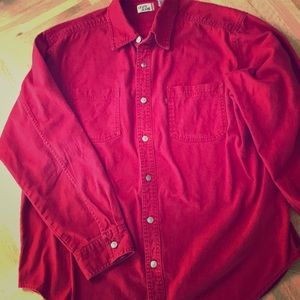 Awesome Vintage Levi's Red Shirt Size Large